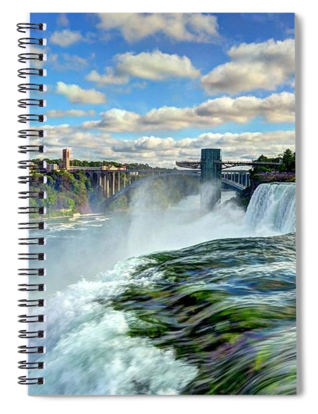Spiral Notebook featuring the photograph Over The Edge 1 by Mel Steinhauer