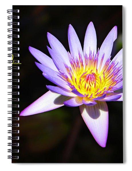 Overcome Evil Spiral Notebook