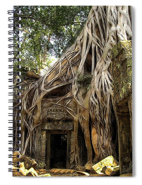 Overgrown Jungle Temple Tree  Spiral Notebook