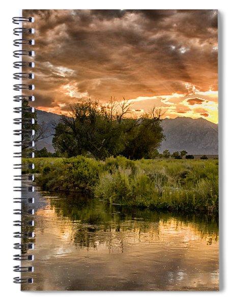 Owens River Sunset Spiral Notebook