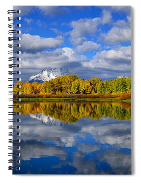 Oxbow Bend Peak Autumn Panorama Spiral Notebook