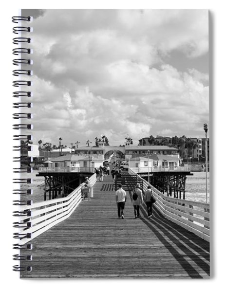 Pacific Beach From Crystal Pier Spiral Notebook