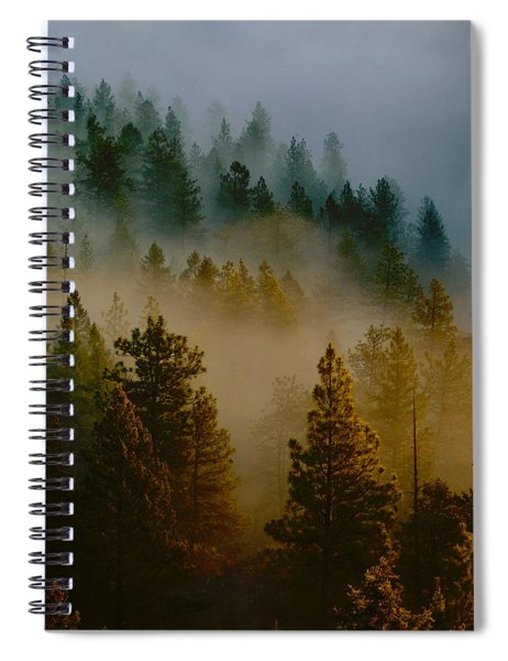 Pacific Northwest Morning Mist Spiral Notebook