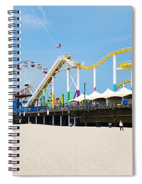 Pacific Park, Santa Monica Pier, Santa Spiral Notebook