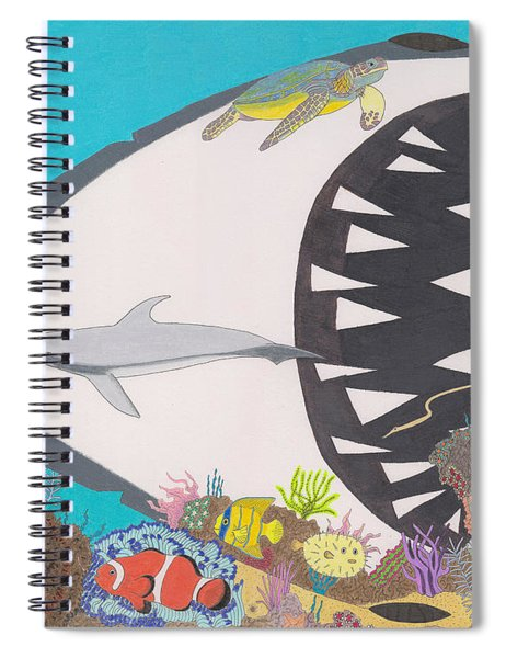 Pacific Peril Spiral Notebook