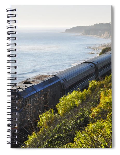 Pacific Surfliner Along The Central Coast Spiral Notebook