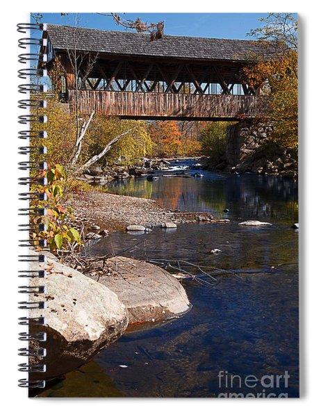 Packard Hill Bridge Lebanon New Hampshire Spiral Notebook