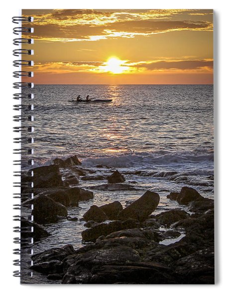 Paddlers At Sunset Portrait Spiral Notebook