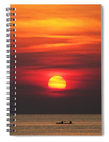 Paddling Under The Sun Spiral Notebook