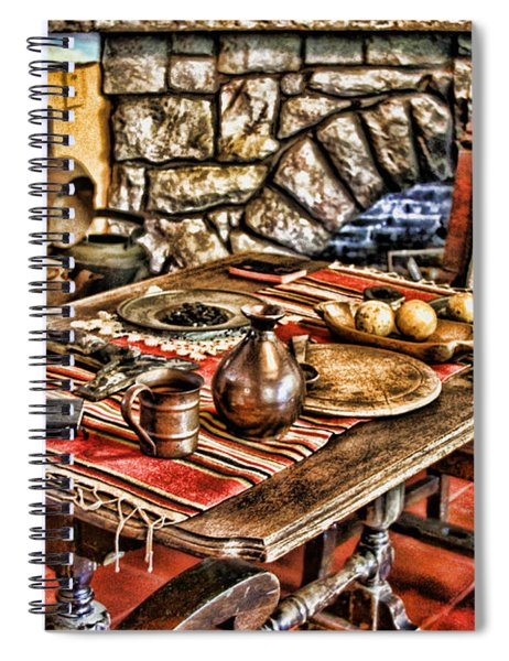Padre's Table By Diana Sainz Spiral Notebook