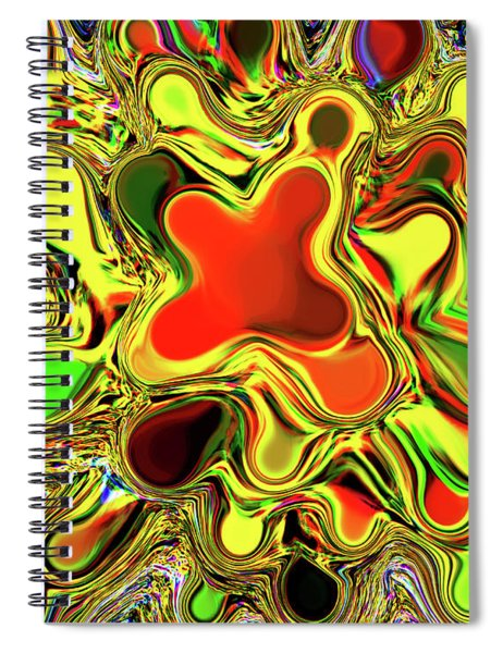 Paint Ball Color Explosion Spiral Notebook