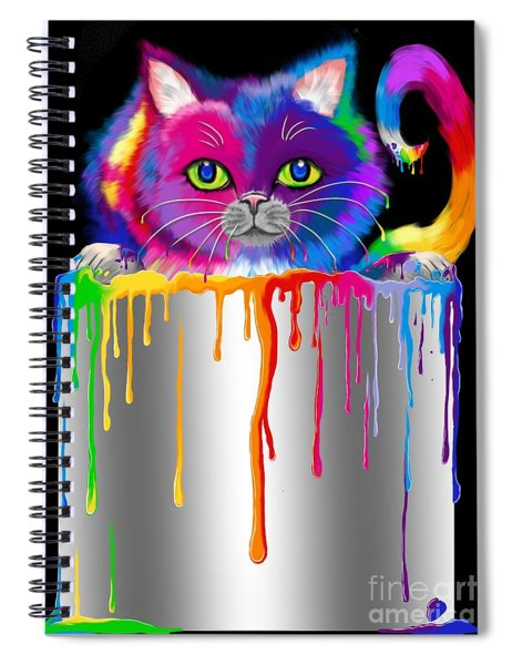 Paint Can Cat Spiral Notebook