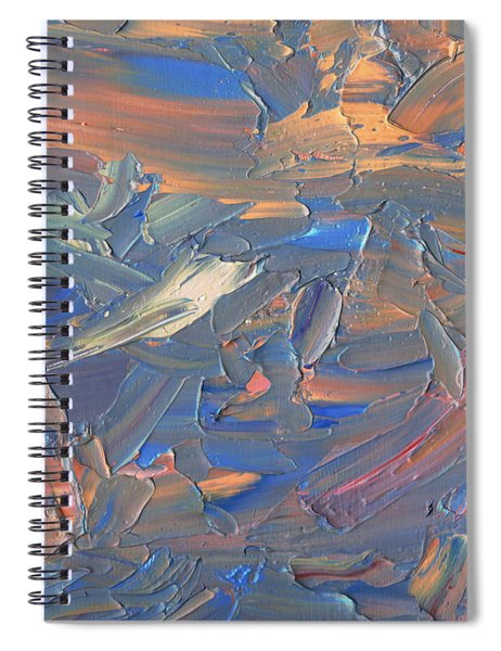 Spiral Notebook featuring the painting Paint Number 58c by James W Johnson