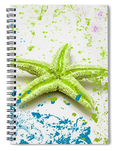Paint Spattered Star Fish Spiral Notebook