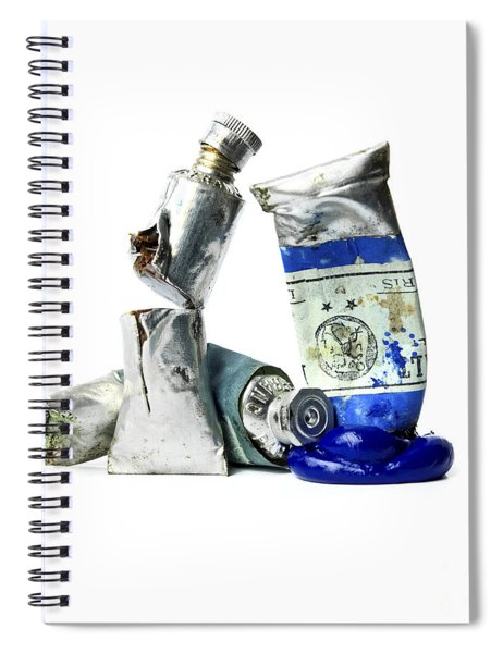 Paint Tube Spiral Notebook