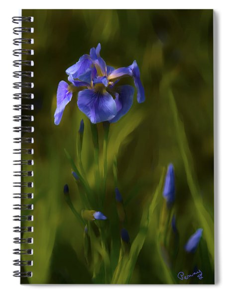 Painted Alaskan Wild Irises Spiral Notebook
