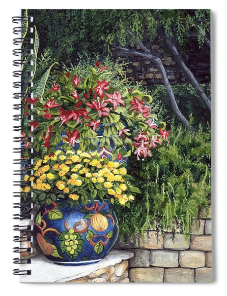 Painted Pots Spiral Notebook