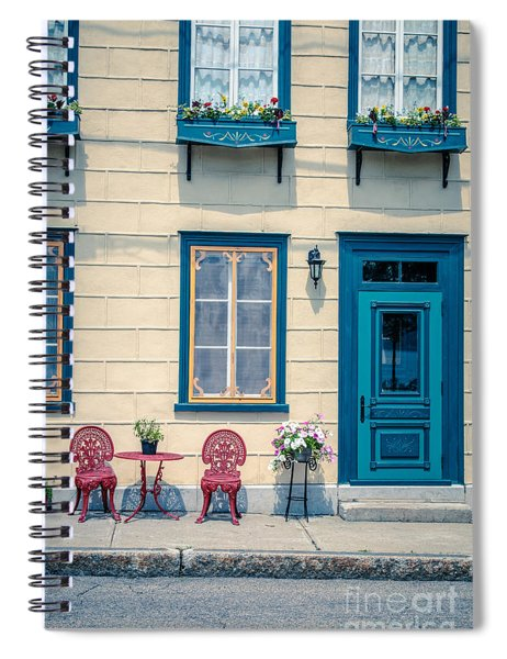 Painted Townhouse In Old Quebec City Spiral Notebook