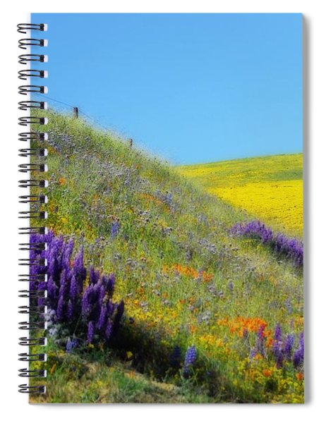 Painted With Wildflowers Spiral Notebook