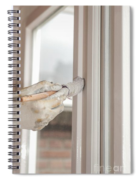 Painting A Window With White Spiral Notebook