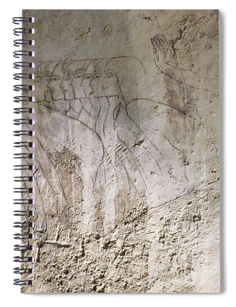Painting West Wall Tomb Of Ramose T55 - Stock Image - Fine Art Print - Ancient Egypt Spiral Notebook