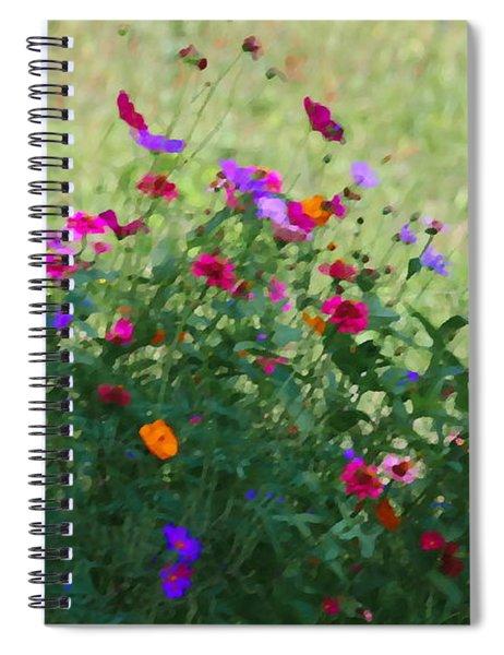 Painty Roadside Flowers Spiral Notebook