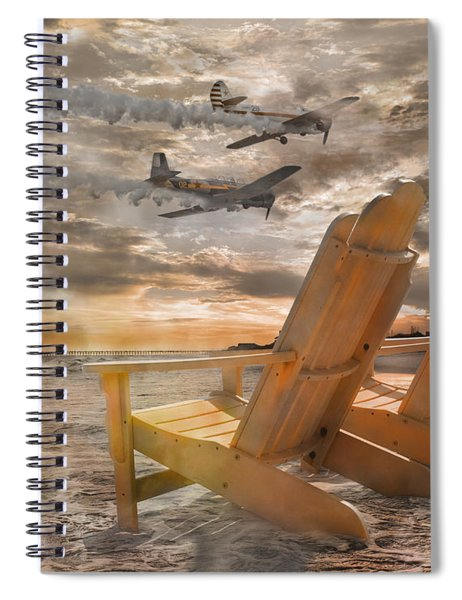 Pairs Along The Coast Spiral Notebook