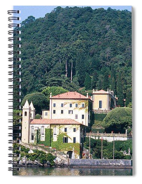 Palace At Lake Como Italy Spiral Notebook