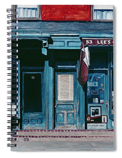 Palace Barber Shop And Lees Candy Store Spiral Notebook
