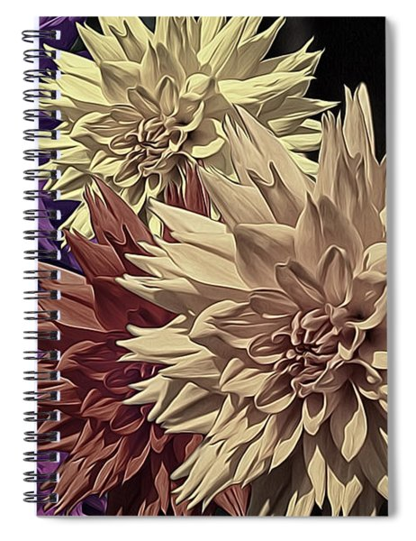 Pale Dahlias Spiral Notebook