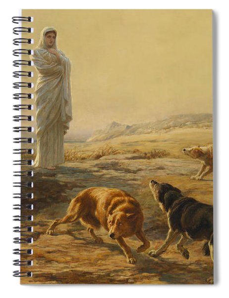 Pallas Athena And The Herdsmans Dogs Spiral Notebook