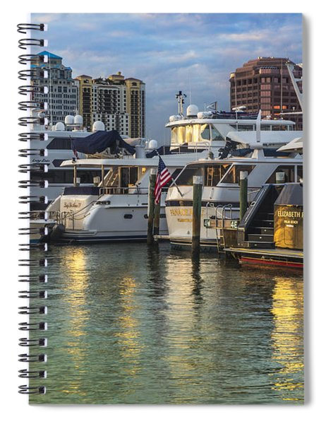 Palm Beach Marina Spiral Notebook