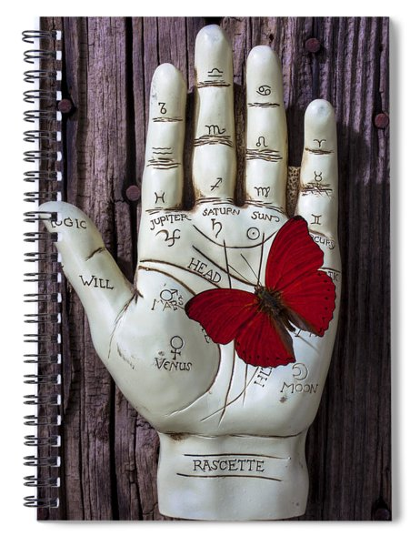 Palm Reading Hand And Butterfly Spiral Notebook