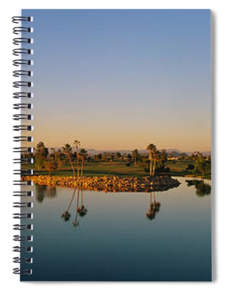 Palm Trees At The Lakeside, Phoenix Spiral Notebook