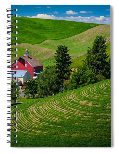 Palouse Farm Landscape Spiral Notebook