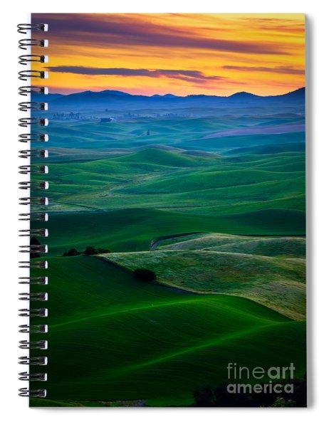 Palouse Velvet Spiral Notebook