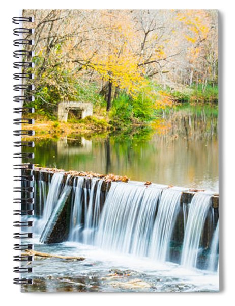 Panorama Of Buck Creek In Autumn Spiral Notebook