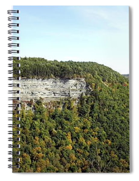 Panorama Of Cliff At Letchworth State Park Spiral Notebook