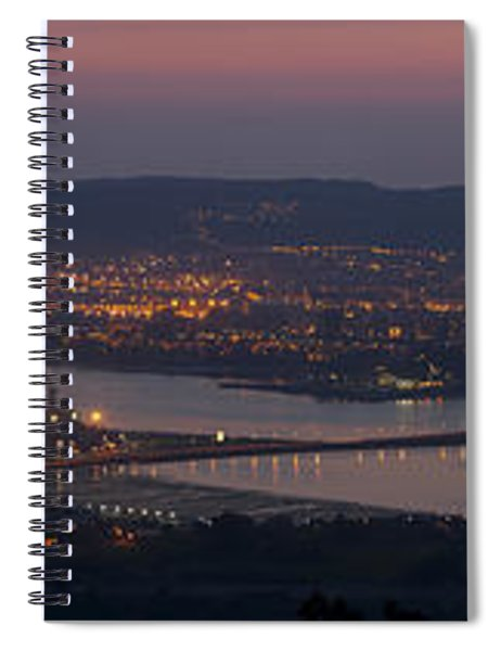 Panorama Of Ferrol From Mount Marraxon Galicia Spain Spiral Notebook