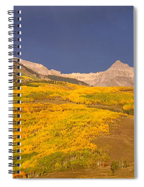 Panoramic View Of Mountains, Telluride Spiral Notebook