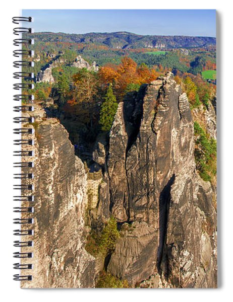 Panoramic Views Of Neurathen Castle Spiral Notebook