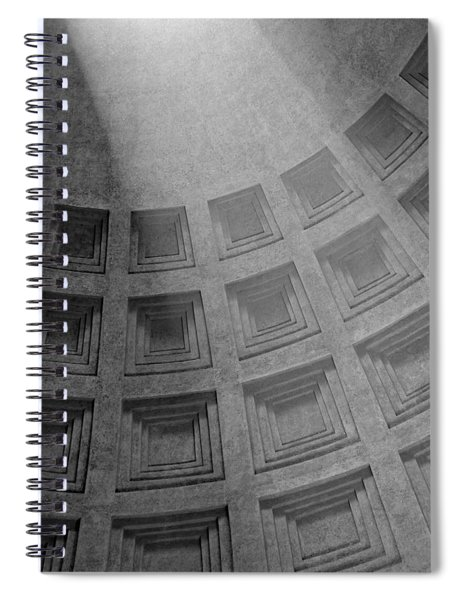 Pantheon Ceiling Spiral Notebook