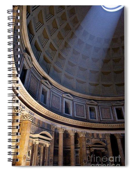 Spiral Notebook featuring the photograph Pantheon Interior by Brian Jannsen