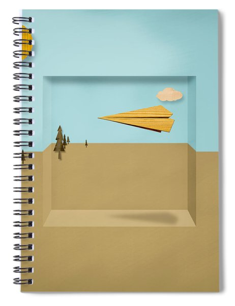 Paper Airplanes Of Wood 12 Spiral Notebook