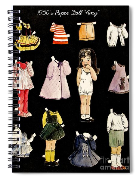 Paper Doll Amy Spiral Notebook