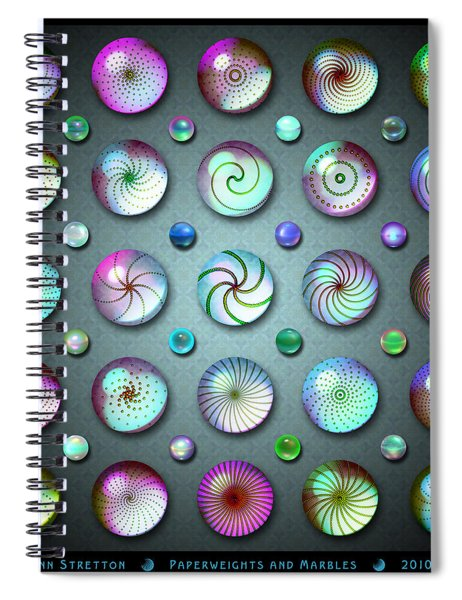 Paperweights And Marbles Spiral Notebook
