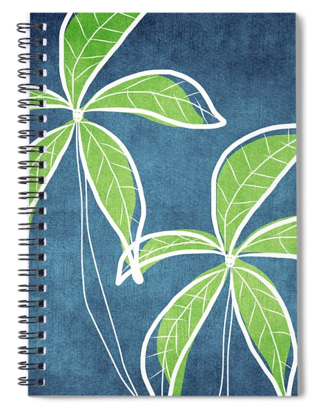 Paradise Palm Trees Spiral Notebook by Linda Woods
