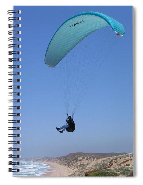 Paraglider Over Sand City Spiral Notebook