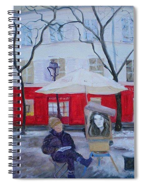 Paris Artist, 2010 Oil On Canvas Spiral Notebook