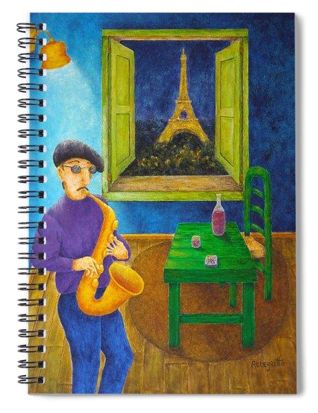 Paris Blues Spiral Notebook